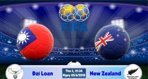 Soi kèo bóng đá Đài Loan vs New Zealand 21h30, ngày 5/06 Giao Hữu Quốc Tế 2018