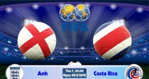 Soi kèo bóng đá Anh vs Costa Rica 02h00, ngày 8/6 Giao Hữu Quốc Tế 2018