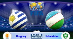 Soi kèo bóng đá Uruguay vs Uzbekistan 06h00, ngày 8/6 Giao Hữu Quốc Tế 2018