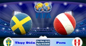 Soi kèo bóng đá Thụy Điển vs Peru 00h15, ngày 10/6 Giao Hữu Quốc Tế 2018