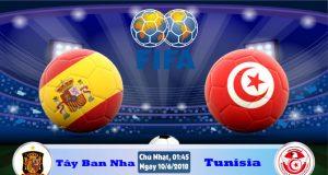 Soi kèo bóng đá Tây Ban Nha vs Tunisia 01h45, ngày 10/6 Giao Hữu Quốc Tế 2018