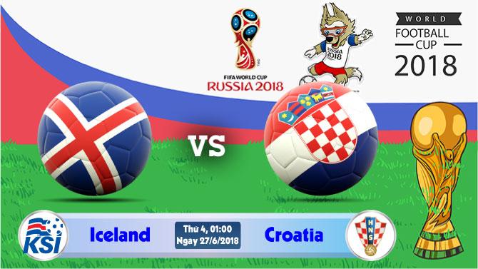 Soi kèo World Cup Iceland vs Croatia 01h00, ngày 27/6: Liệu có kỳ tích