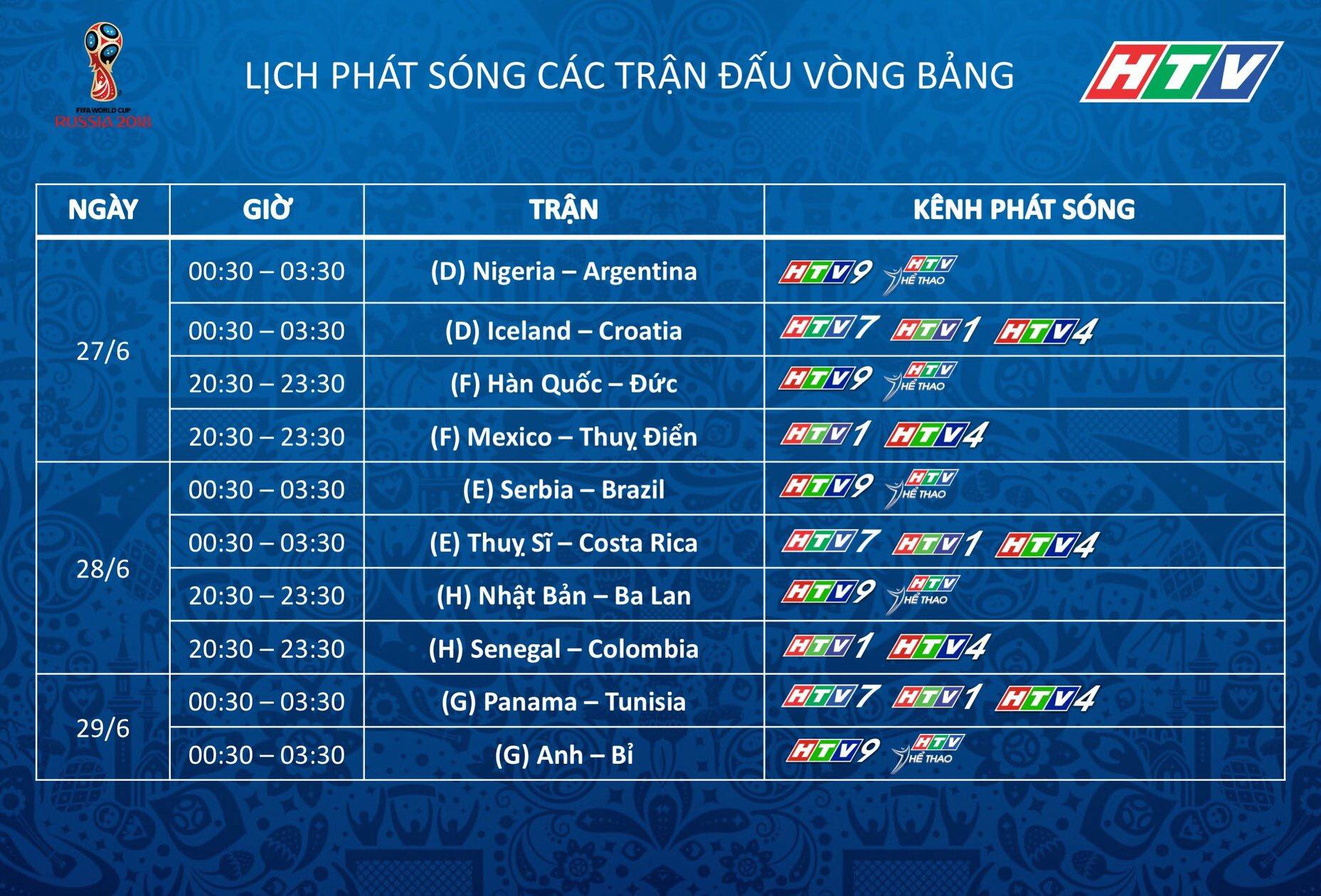 LICH PHAT SONG WORLD CUP 2018 TREN HTV 4